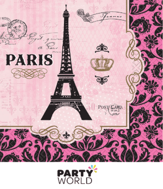 paris themed lunch napkins