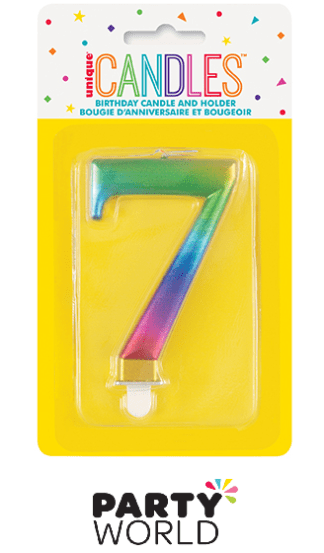 rainbow number candle 7
