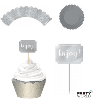 silver cupcake cases