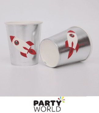 space rocket paper cups
