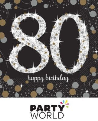 80th Birthday Sparkling Celebration Beverage Napkins (16)