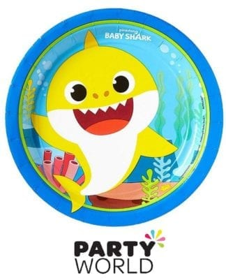 Baby Shark Party Paper Plates (8)