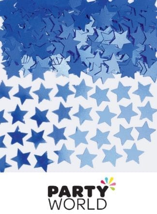 Blue Mini Star Foil Party Scatters