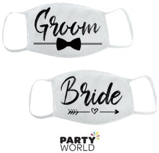 Bride And Groom Washable Protective Masks (2)