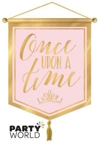 Disney Princess Once Upon A Time Canvas Party Banner