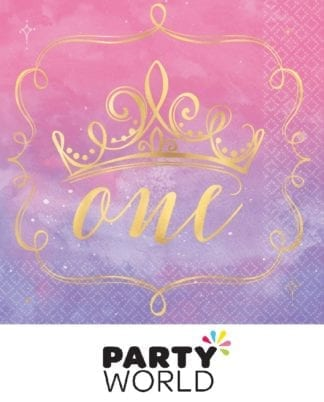 Disney Princess Once Upon a Time 1st Birthday Lunch Napkins (16pk)