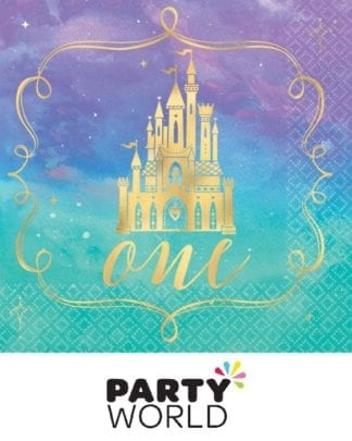 Disney Princess Once Upon a Time 1st Birthday Beverage Napkins (16pk)