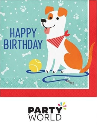 Dog Birthday Party Luncheon Paper Napkins (16)