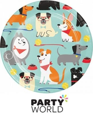 Dog Party 7in Round Paper Plates (8)