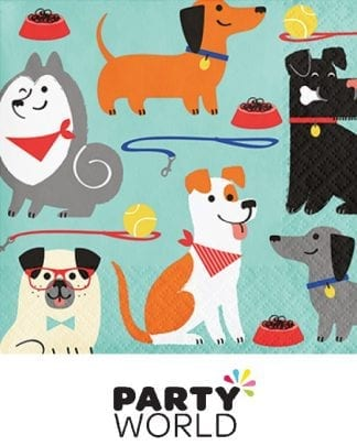 Dog Party Beverage Paper Napkins (16)