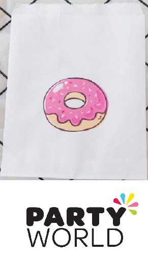 Donut Theme White Paper Party Bags (25)