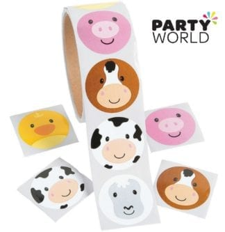 Farm Animals Party Stickers (20)