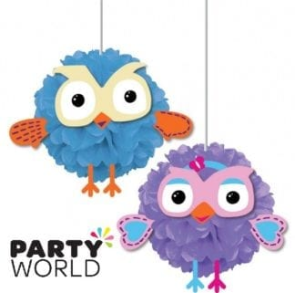 Giggle And Hoot Party Fluffy Decorations (2)