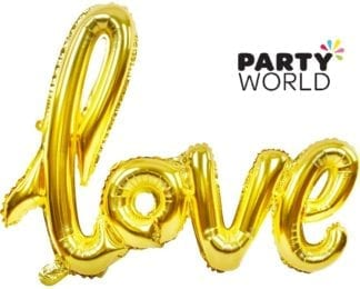 Gold Love Foil Large Letter Balloon