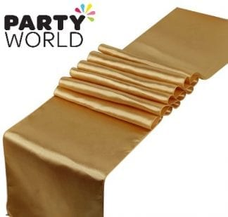 Gold Satin Look Party Table Runner