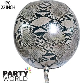 Jungle Safari Snake Foil Round Balloon