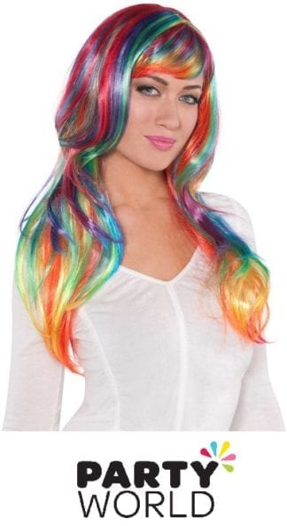 Rainbow Long Wig - Fits Adults And Kids!