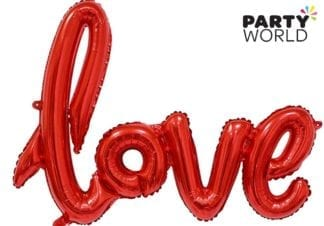 Red Love Foil Large Letter Balloon
