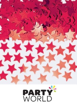 Red Mini Star Foil Party Scatters