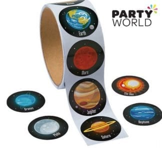 Space Party Planet Stickers (20)