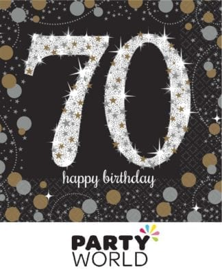 Sparkling Celebration 70th Beverage Napkins (16)