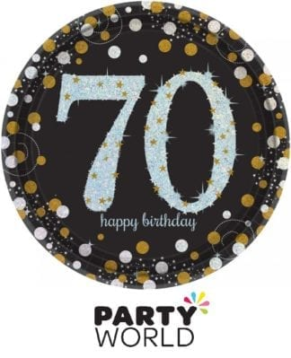 Sparkling Celebration 70th Large Paper Plates (8)