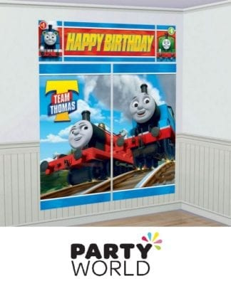 Thomas All Aboard Scene Setter Wall Decorations Kit