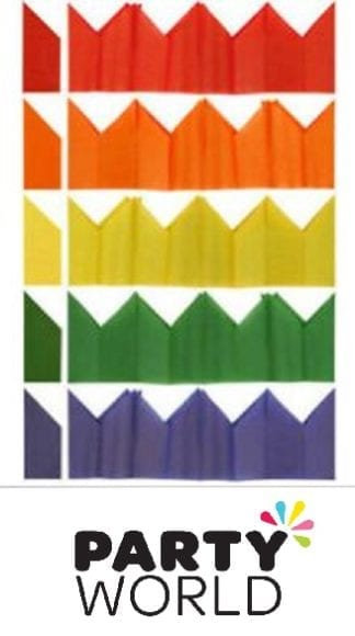 Tissue Crown Assorted Paper Hats (10)