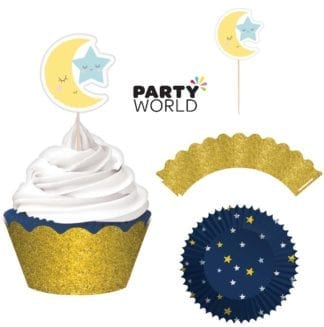 Twinkle Little Star Glittered Cupcake Kit