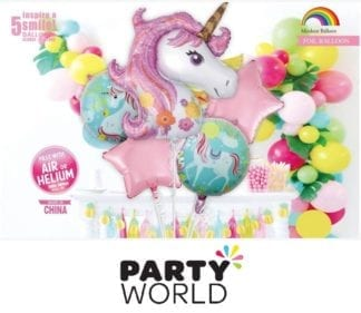Unicorn Party Assorted Foil Balloon Set (5)