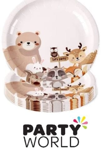 Woodland Forest Animal Paper Plates (8)