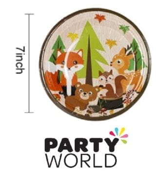 Woodland Forest Animal Party Paper Plates (8)