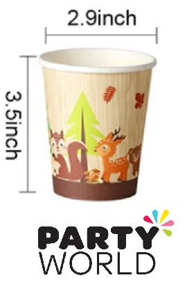 Woodland Forest Animal Party Paper Cups (8)