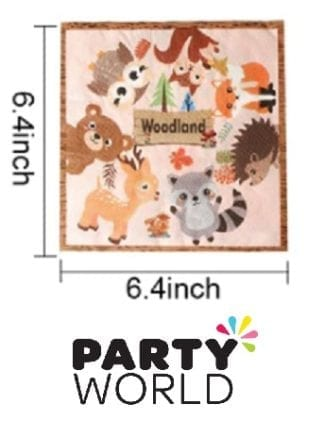 Woodland Forest Animal Party Paper Napkins (10)