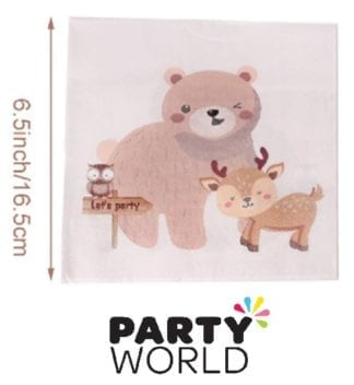 Woodland Forest Animals Paper Napkins (20)