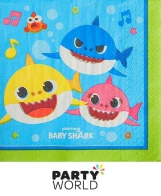 Baby Shark Party Beverage Napkins (16)