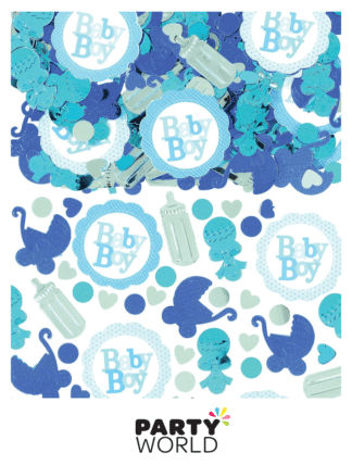 baby boy baby shower confetti
