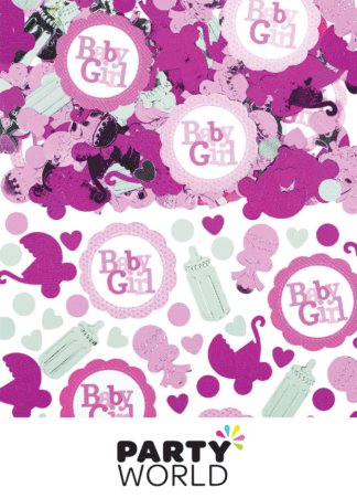 baby girl baby shower pink confetti