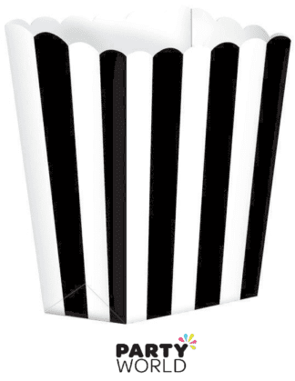 black striped treat boxes