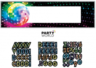 disco personalizable banner