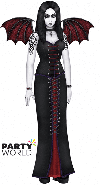 goth beauty cutout