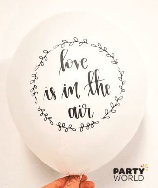 love is in the air balloons