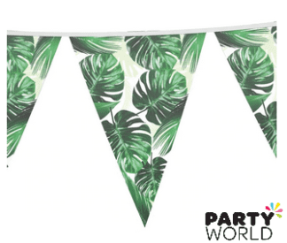 palm leave tropical bunting