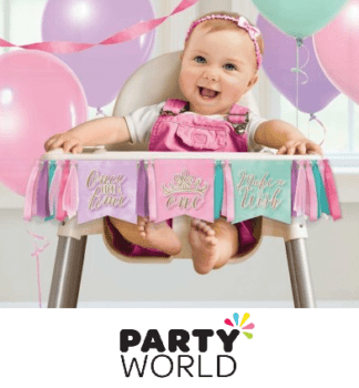 princess arty high chair kit 1st birthday