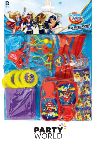 super hero girls party favours pack