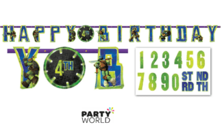 teenage mutant ninja turtles birthday banner