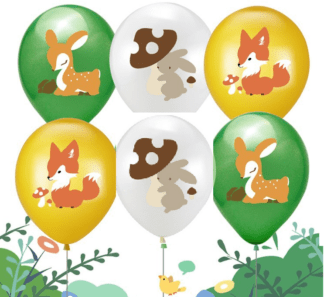 woodland animals balloons