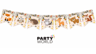 woodland animals party bunting