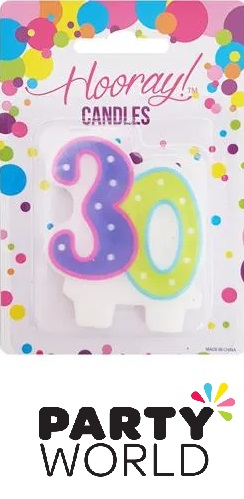 30th Birthday Pastel Cake Candle