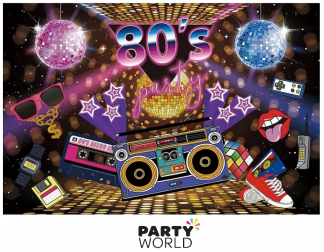 80's party backdrop
